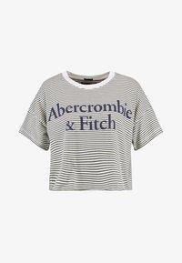 Abercrombie & Fitch - LOGO TEE - Triko spotiskem - white/khaki - 3