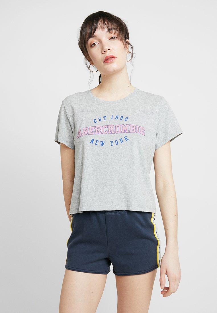 Abercrombie & Fitch - LOGO  - T-Shirt print - grey