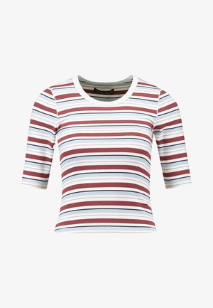 HALF SLEEVE SNAP - T-shirt basic - red/white
