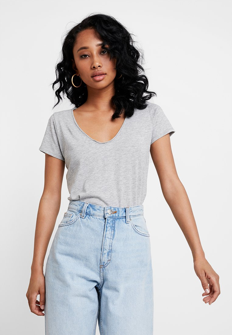 Abercrombie & Fitch - SLEEVE ICON TEE - T-Shirt print - grey