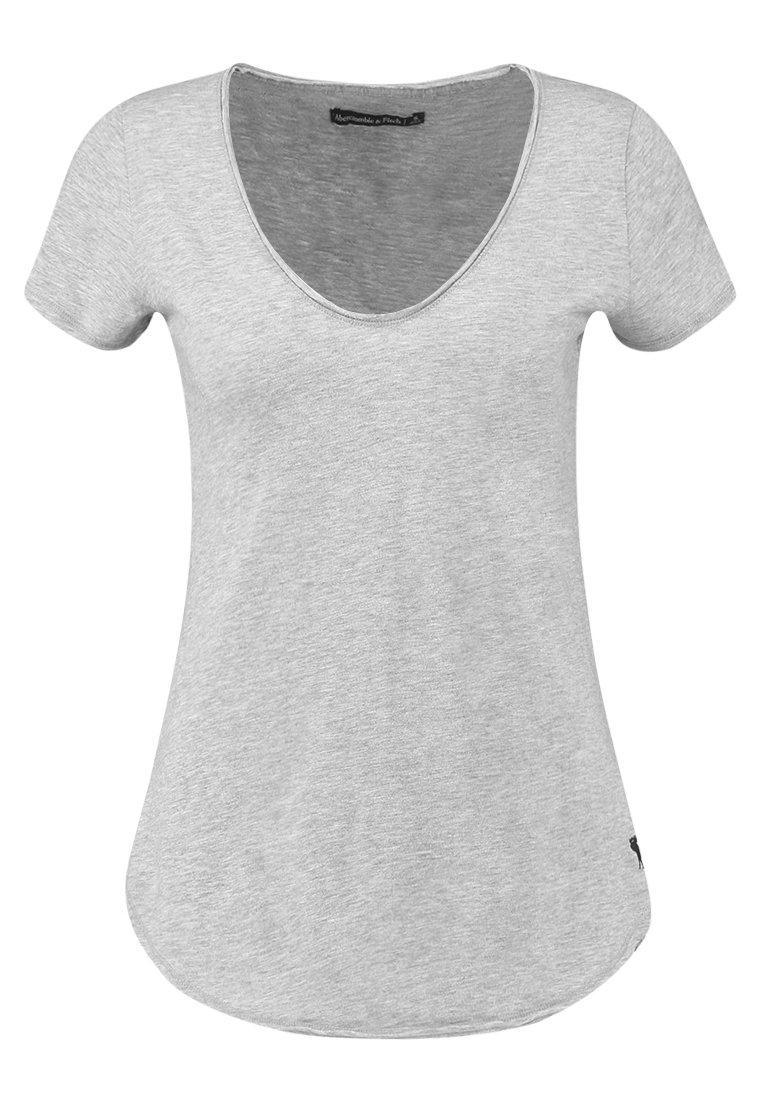Abercrombie & Fitch SLEEVE ICON TEE - T-shirt z nadrukiem - grey