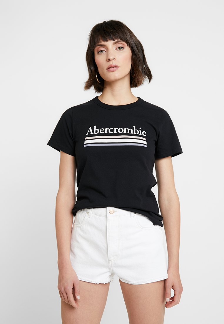 Abercrombie & Fitch - SHORT SLEEVE LOGO TEE - Print T-shirt - black