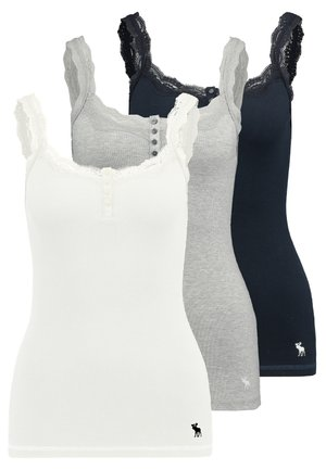 CAMI 3 PACK - Top - white/grey/navy