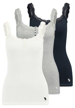 CAMI 3 PACK - Linne - white/grey/navy