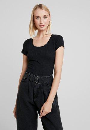 SHORT SLEEVE SLIB TEE - Jednoduché triko - black beauty