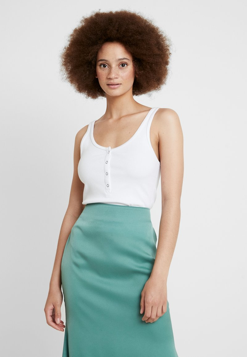 Abercrombie & Fitch - SLIM HENLEY - Top - white