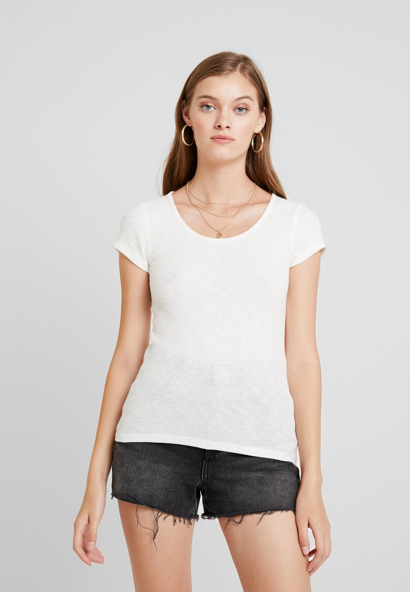 Abercrombie & Fitch - SHORT SLEEVE SLIB TEE - Jednoduché triko - white
