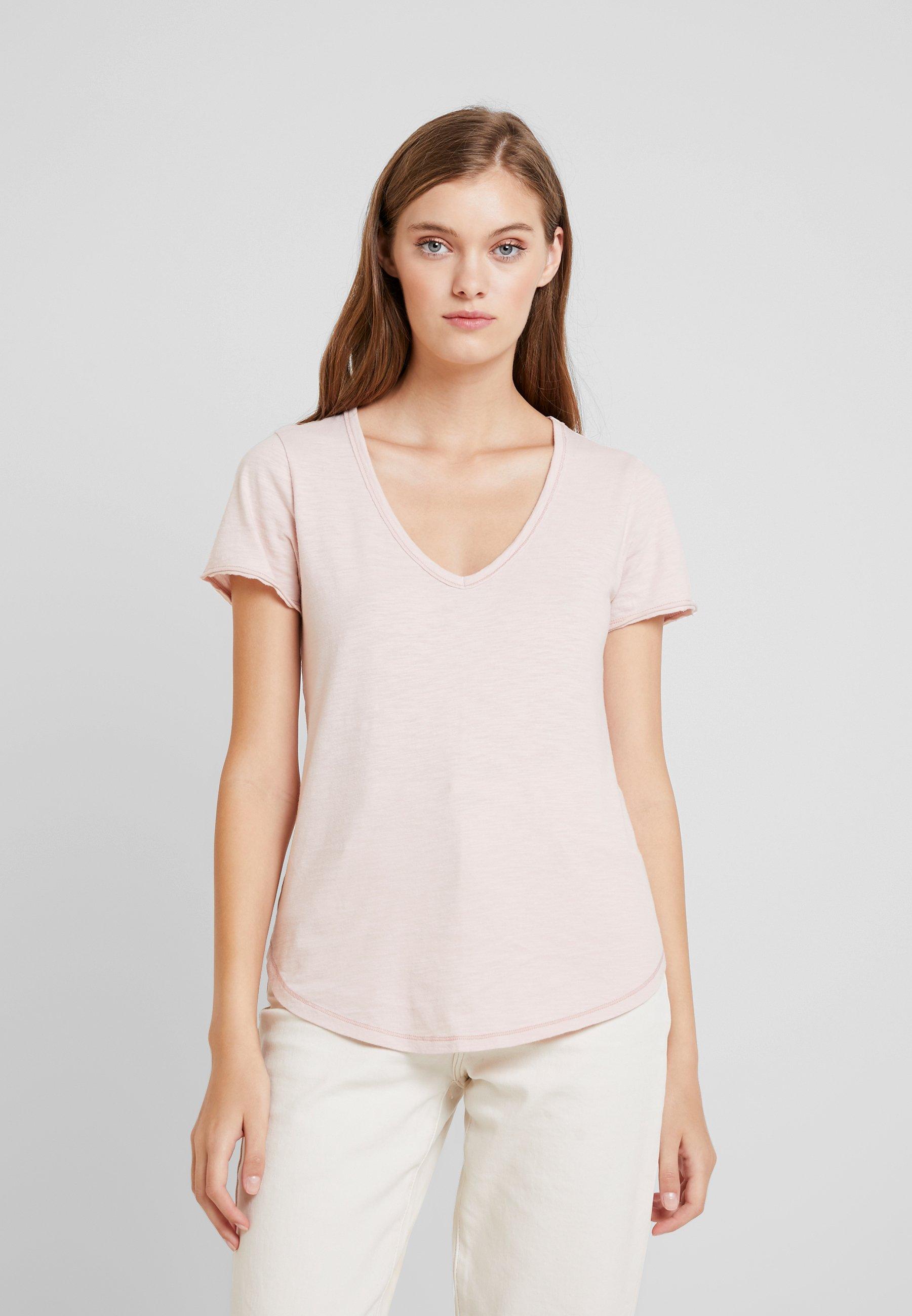 Abercrombieamp; TeeT shirt Basic Fitch Soft Pink 1FKJTlc