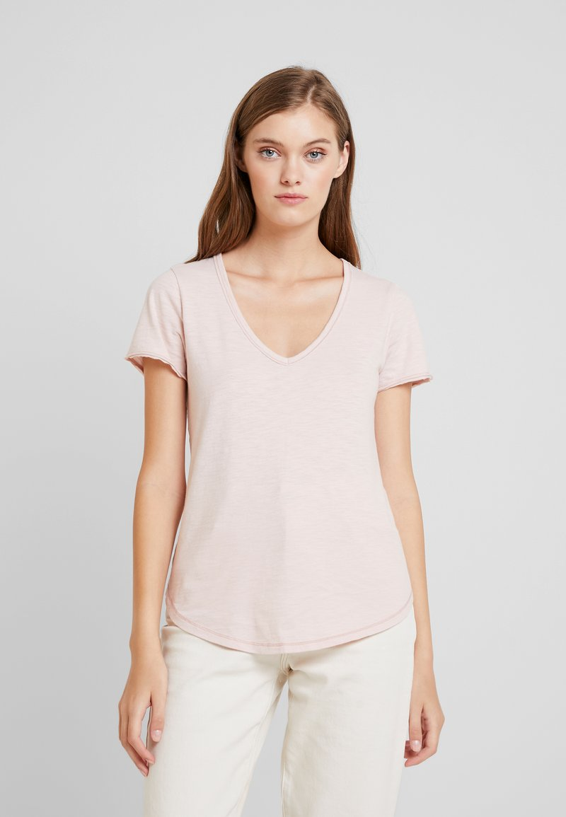 Abercrombie & Fitch - SOFT TEE - T-Shirt basic - pink