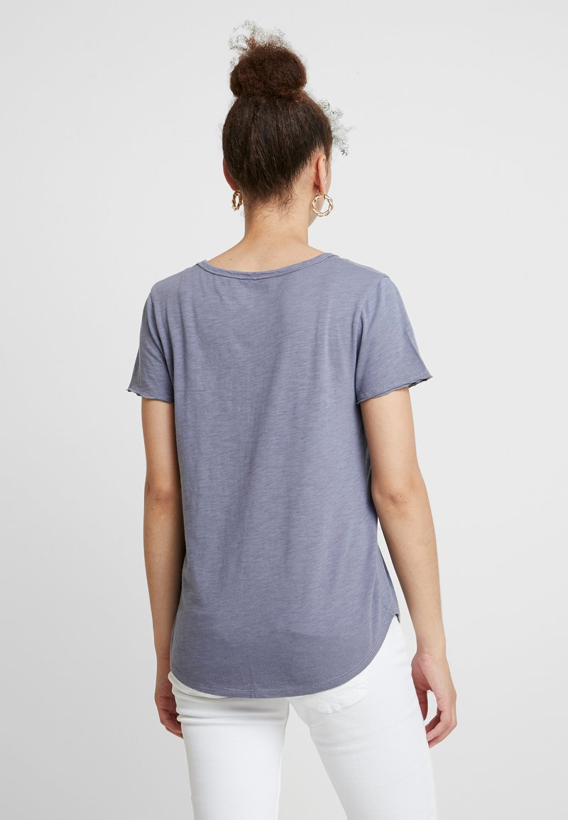 Abercrombie & Fitch SOFT TEE - T-shirts - blue