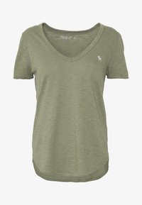 Abercrombie & Fitch - SOFT TEE - Basic T-shirt - green - 3