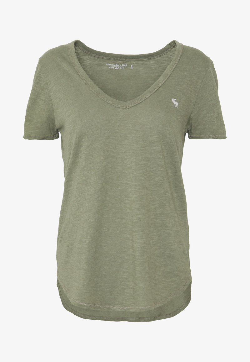 Abercrombie & Fitch SOFT TEE - T-shirts - green