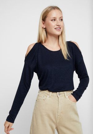 COZY COLD SHOULDER - Stickad tröja - dark blue