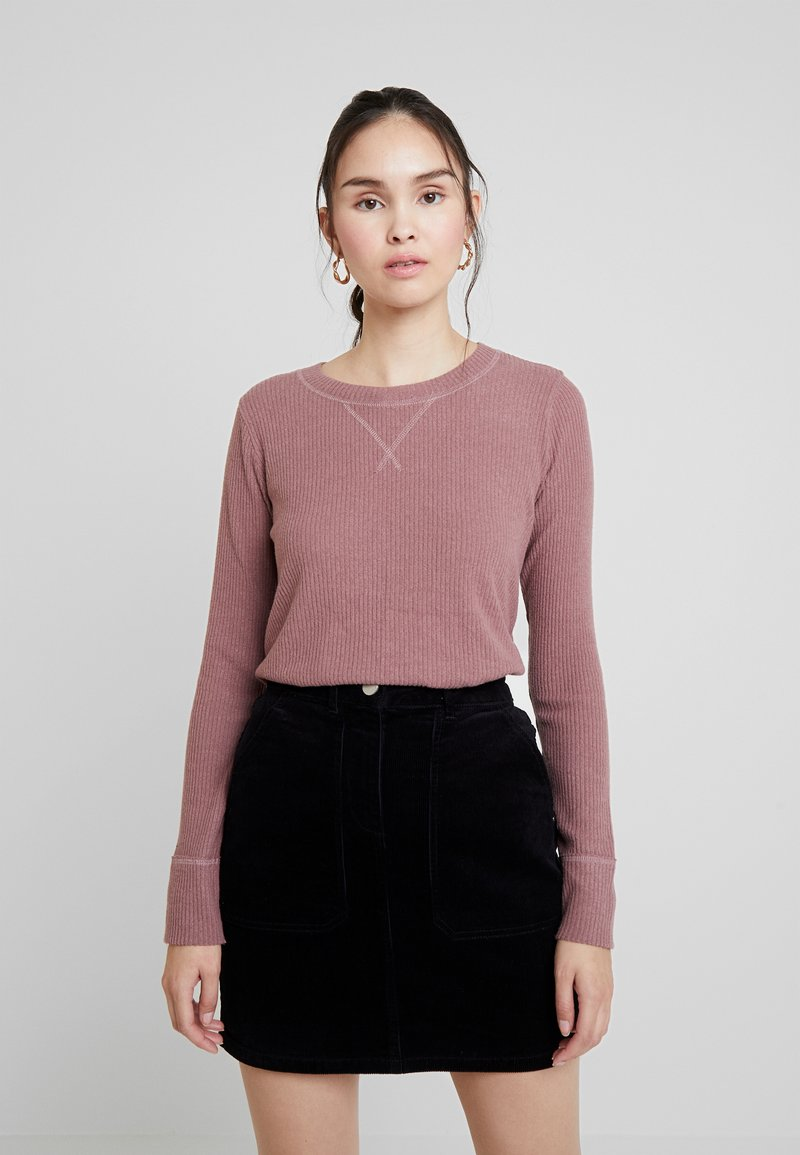 Abercrombie & Fitch - COZY - Long sleeved top - pink