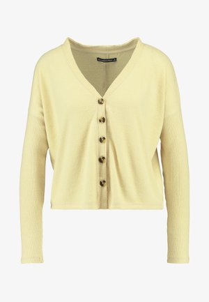BUTTON THROUGH COZY  - Vest - yellow