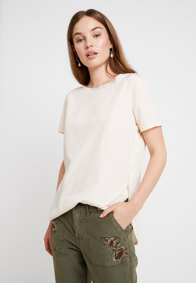 SIDE SPLIT TEE - Bluse - off-white