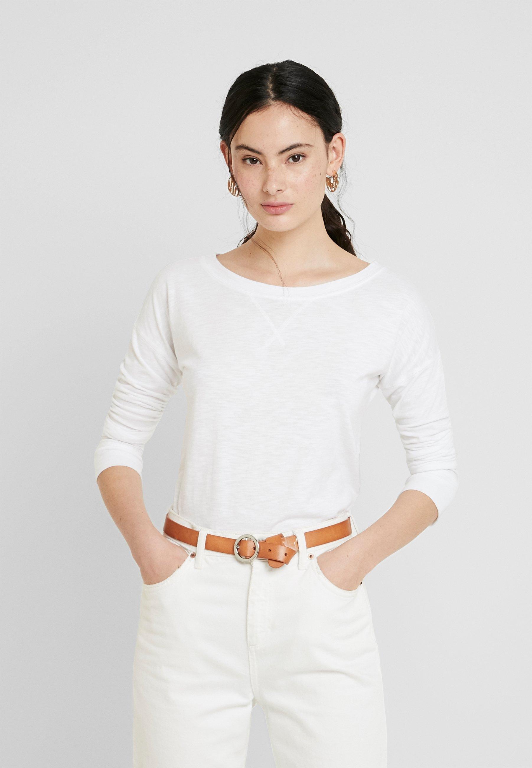 Abercrombie & Fitch Bluzka z długim rękawem - white