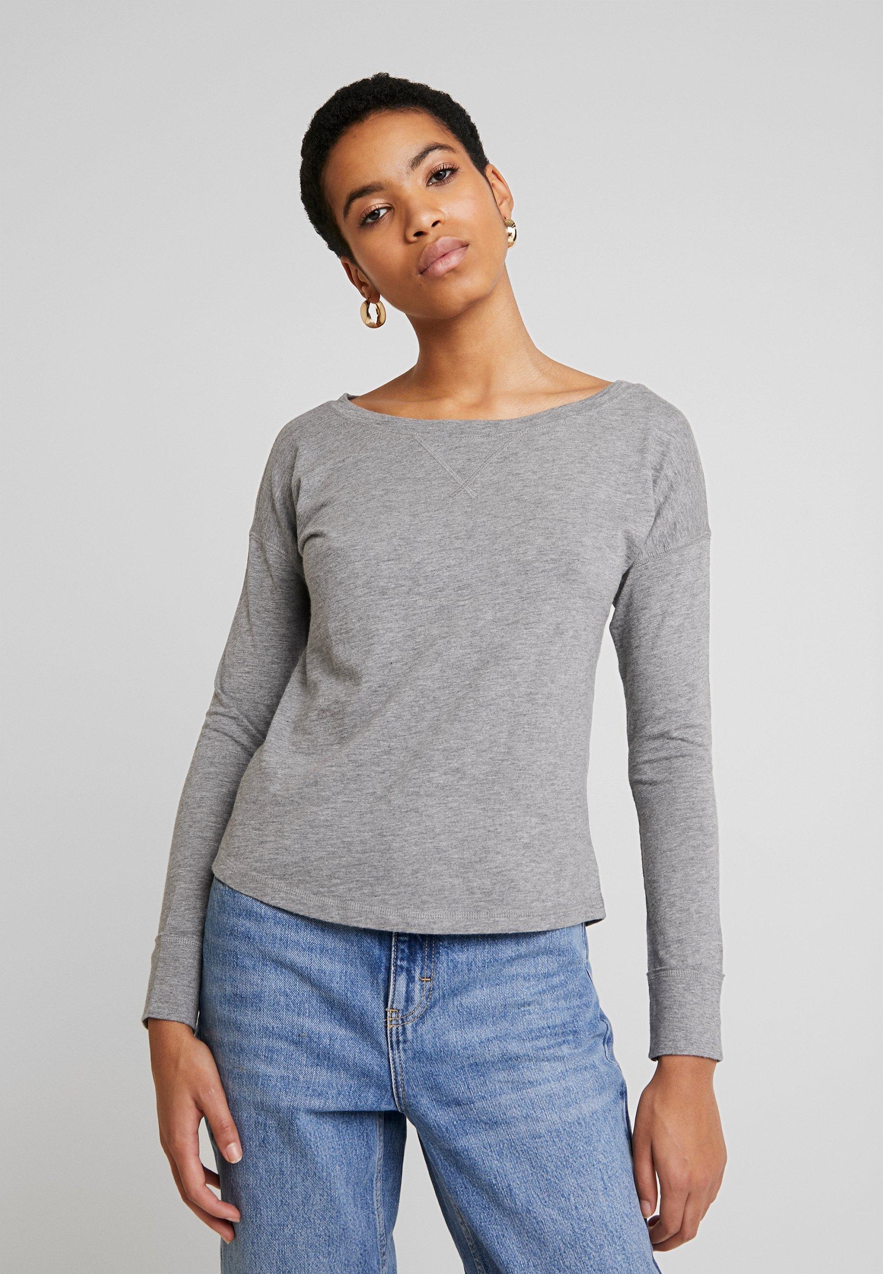 Abercrombie & Fitch Bluzka z długim rękawem - grey
