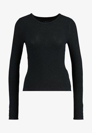 SLIM - Long sleeved top - black beauty
