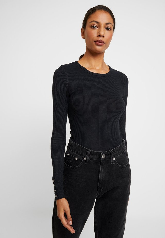 SLIM - Long sleeved top - black beauty