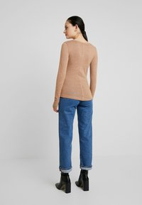 Abercrombie & Fitch - COZY HENLEY - Jumper - burro/light brown - 2