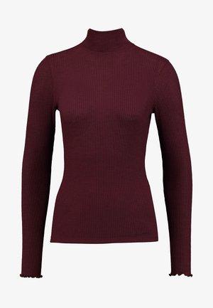 SLIM TURTLENECK - Long sleeved top - burgundy