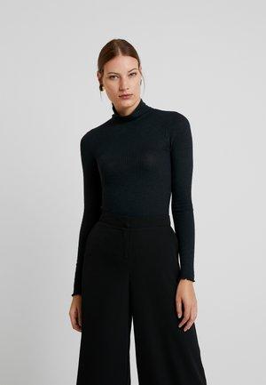 SLIM TURTLENECK - Langærmede T-shirts - black