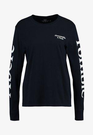 PRINT LOGO TEE - Long sleeved top - navy