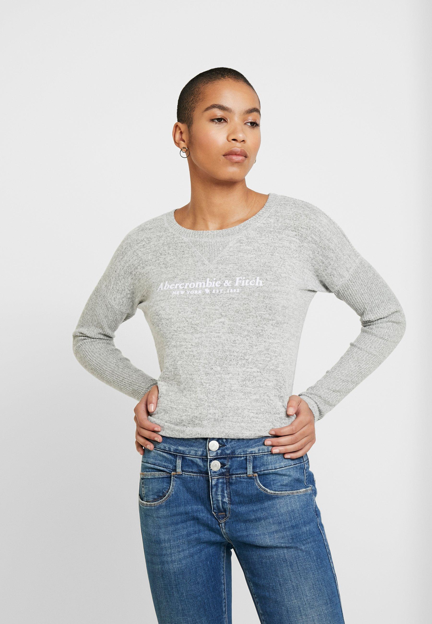 Abercrombie & Fitch COZY LOGO - Bluzka z długim rękawem - grey