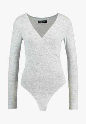 COZY WRAP BODYSUIT - Long sleeved top - grey