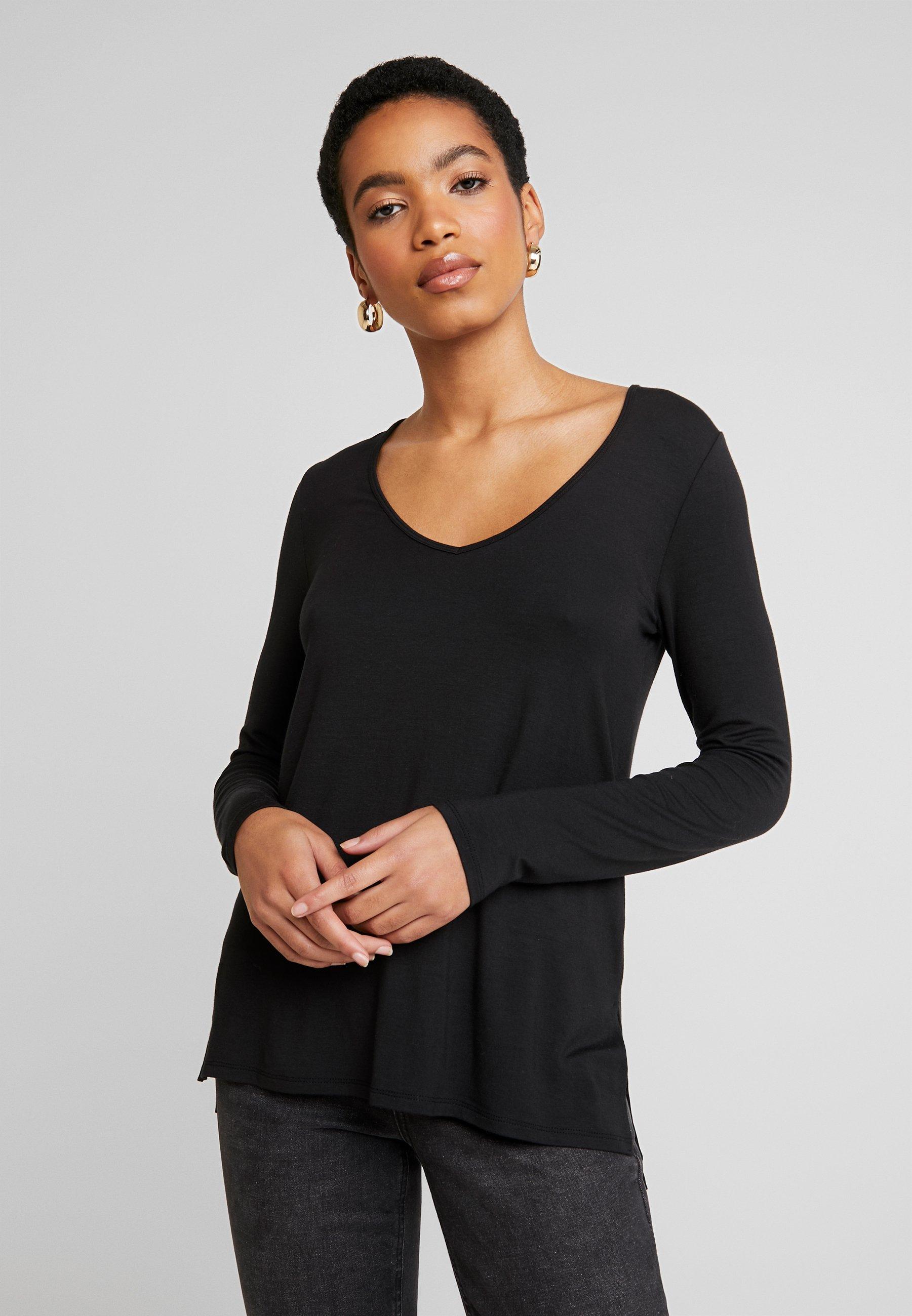 Abercrombie & Fitch Bluzka z długim rękawem - black