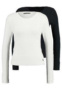 Abercrombie & Fitch - SLIM MULTI 2 PACK - Top sdlouhým rukávem - black/white - 0