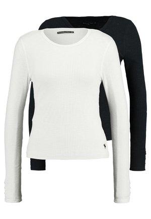 SLIM MULTI 2 PACK - Longsleeve - black/white