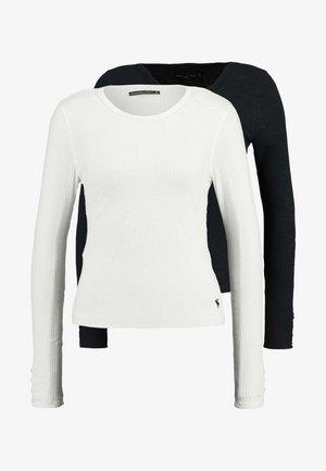 SLIM MULTI 2 PACK - Bluzka z długim rękawem - black/white