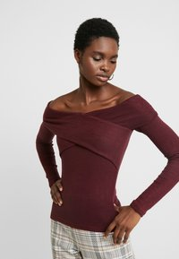 Abercrombie & Fitch - SCOOP ESSENTIAL BODYSUI - Svetr - port royale - 0