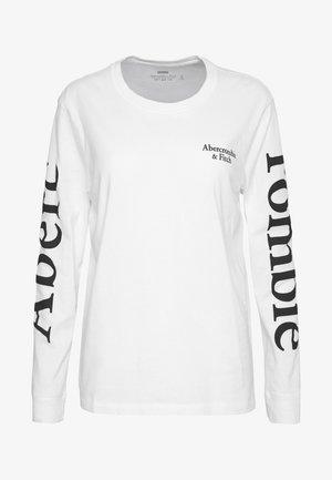 PRINT LOGO TEE  - Long sleeved top - white