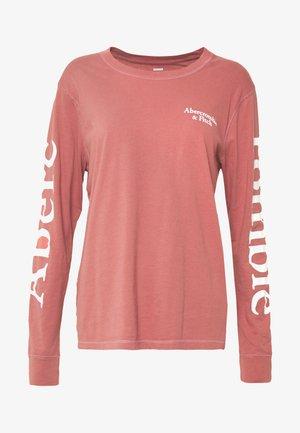PRINT LOGO TEE  - Maglietta a manica lunga - pink