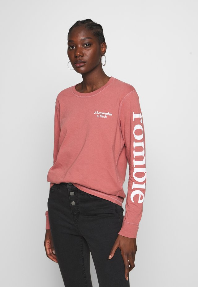 PRINT LOGO TEE  - Långärmad tröja - pink