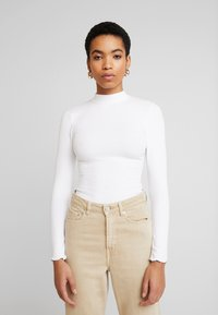 Abercrombie & Fitch - SCOOP ESSENTIAL BODY - Topper langermet - white - 0