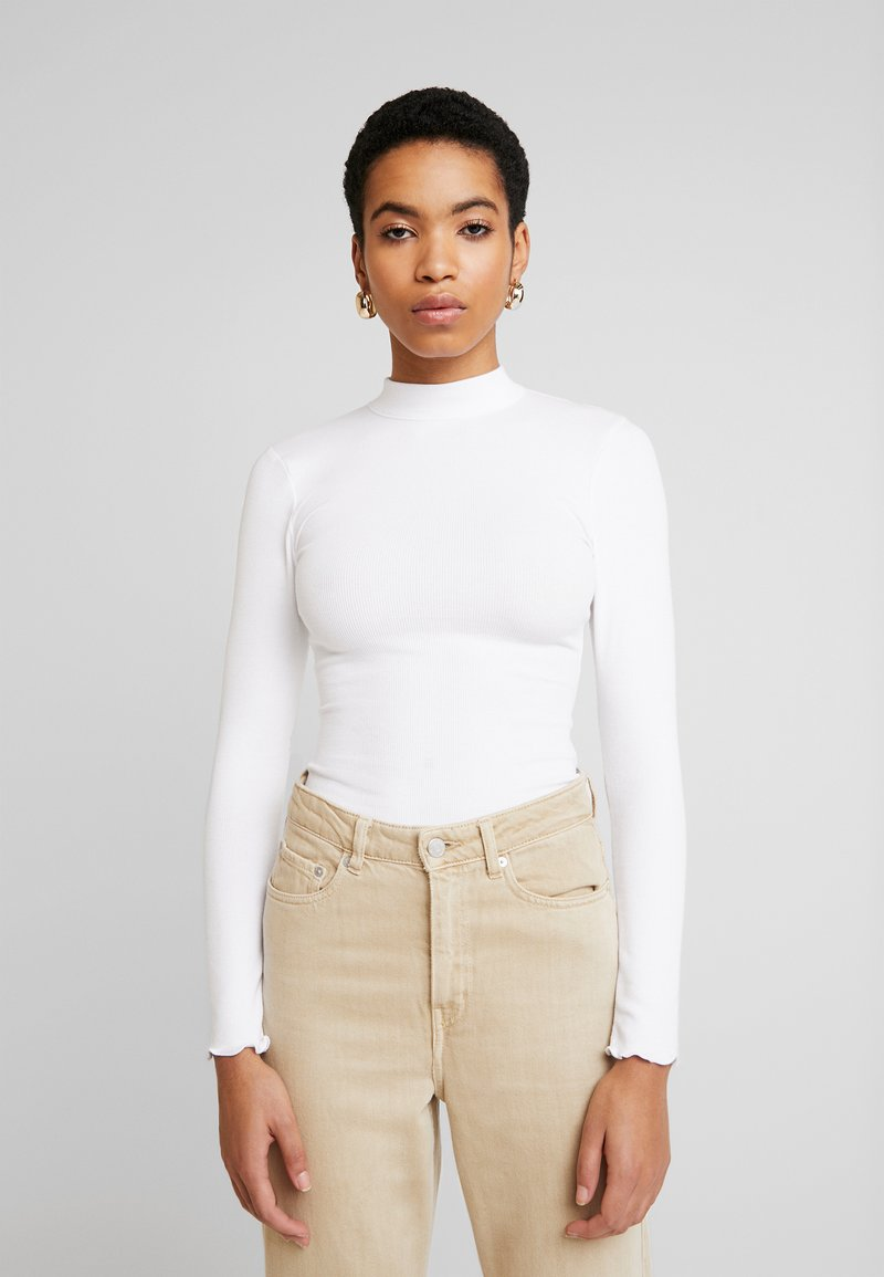 Abercrombie & Fitch - SCOOP ESSENTIAL BODY - Topper langermet - white