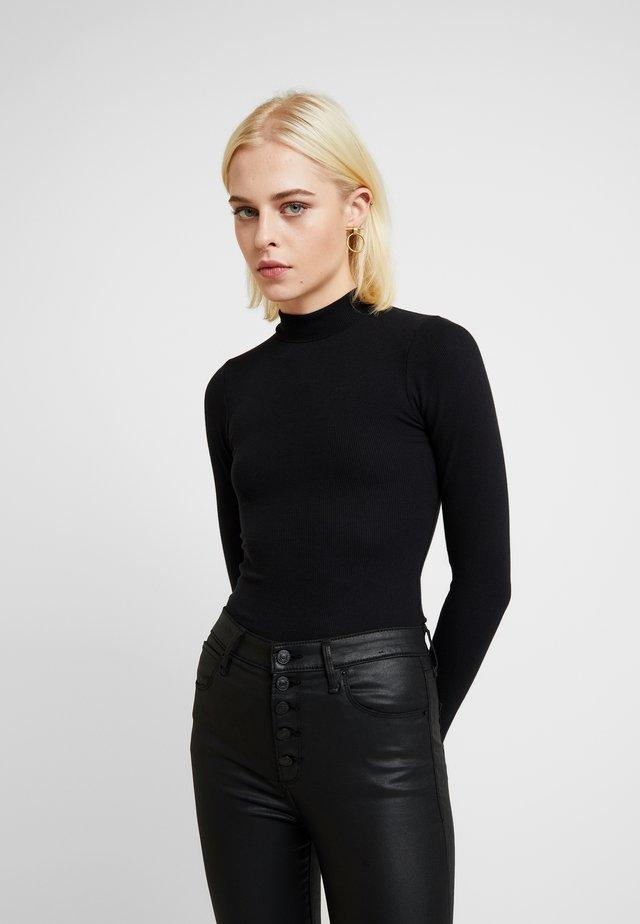 SCOOP ESSENTIAL BODY - Long sleeved top - black