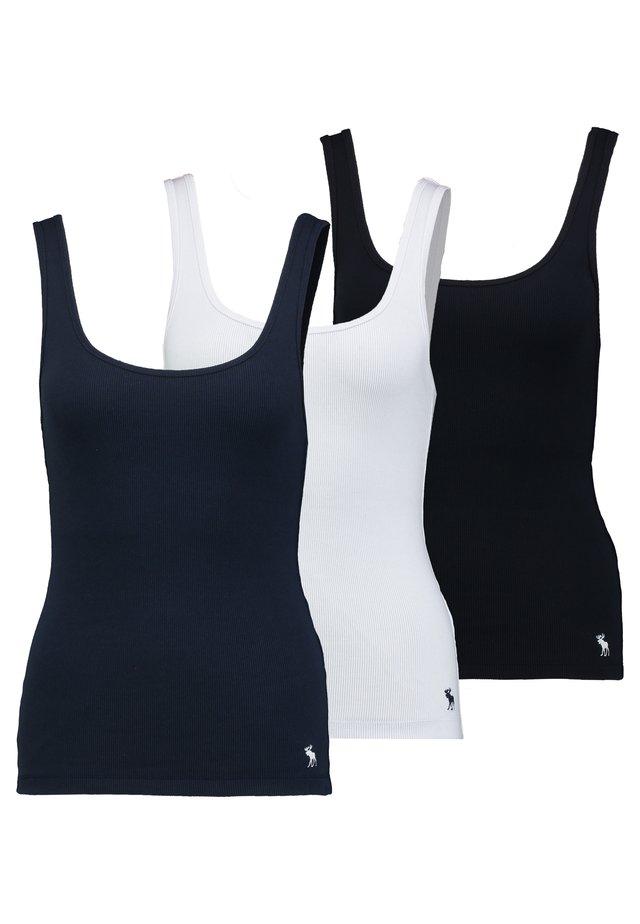 BOYTANK 3 PACK - Toppe - black/white/navy