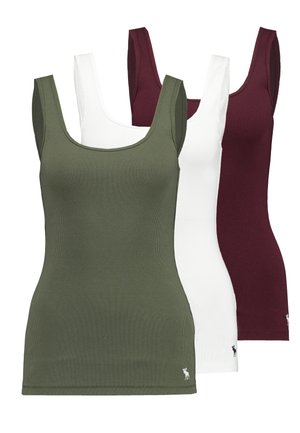 BOY TANK HOLIDAY 3 PACK - Top - olive/white/red