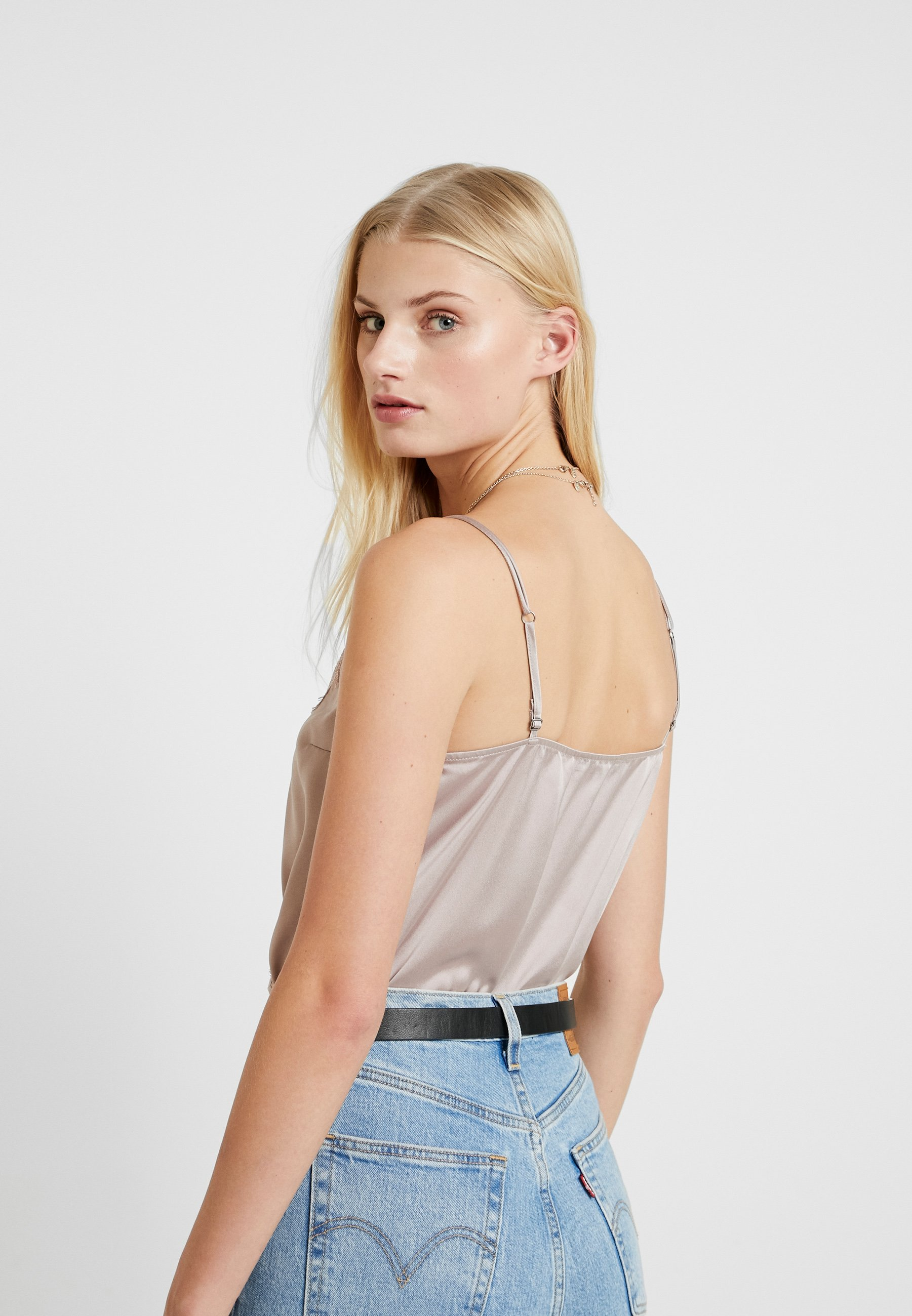 Abercrombie & Fitch WRAP CAMI BODYSUIT - Topper - pink