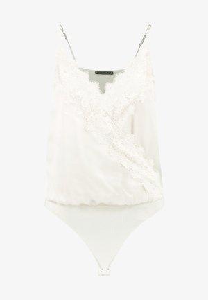 WRAP CAMI BODYSUIT - Top - white