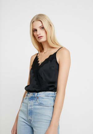 WRAP CAMI BODYSUIT - Top - black