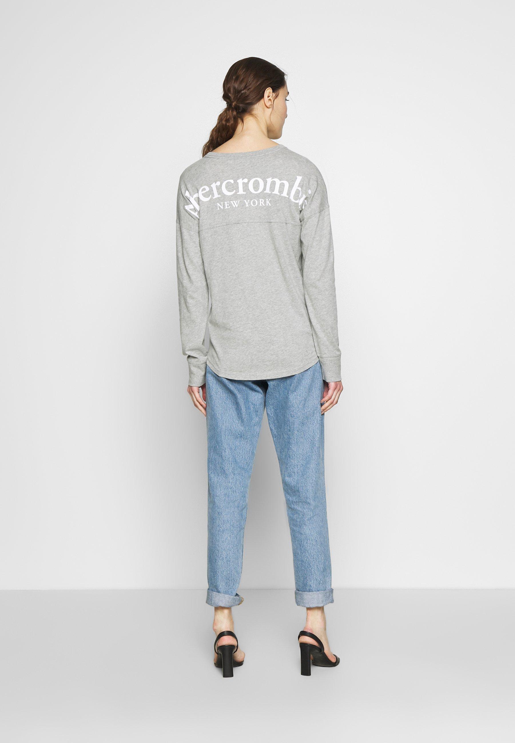 Abercrombie & Fitch T-shirt À Manches Longues - Grey