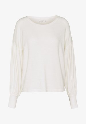 CINCH FRONT COZY - Stickad tröja - white