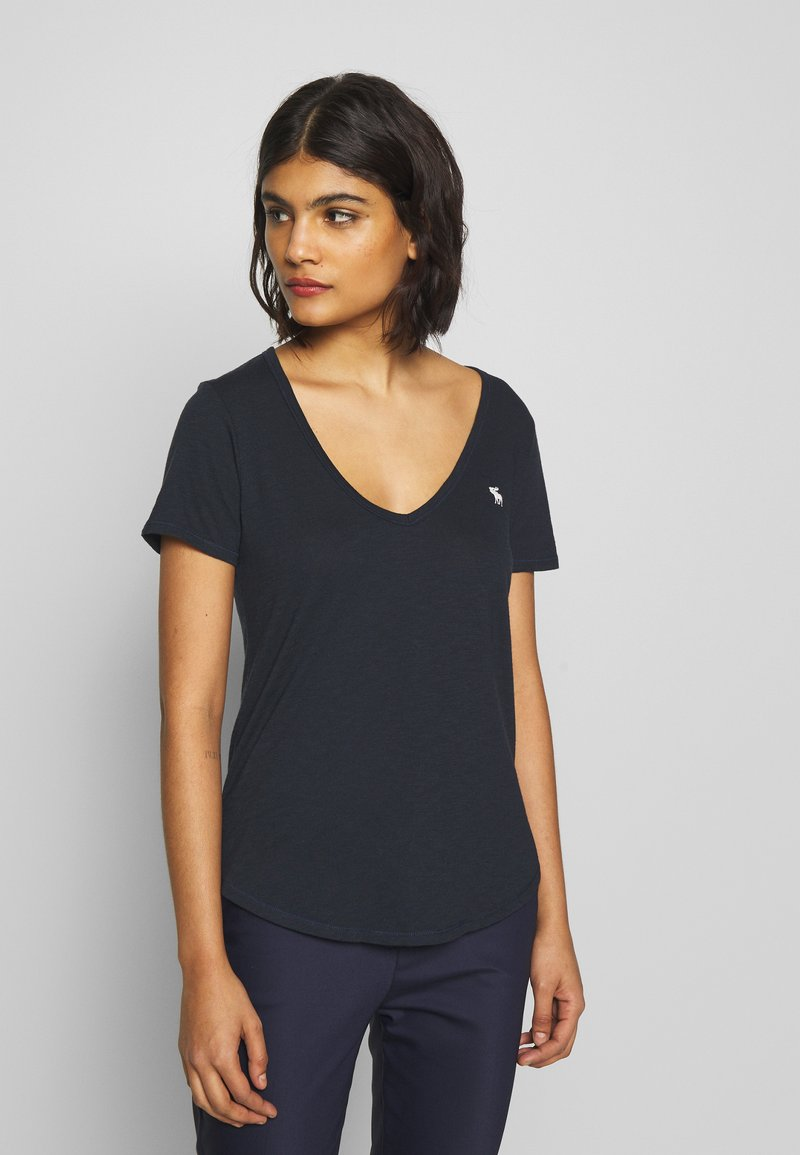Abercrombie & Fitch - SOFT ICON TEE - Basic T-shirt - navy
