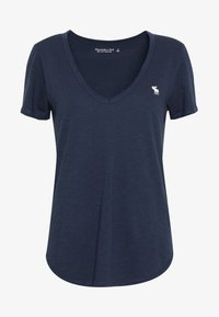 Abercrombie & Fitch - SOFT ICON TEE - Basic T-shirt - navy - 4